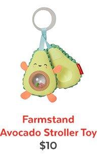 Farmstand Avocado Stroller Toy | $10