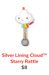 Silver Lining Cloud™ Starry Rattle | $8