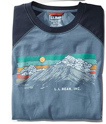 Men's Bean's Performance Graphic Tee, Long-Sleeve.