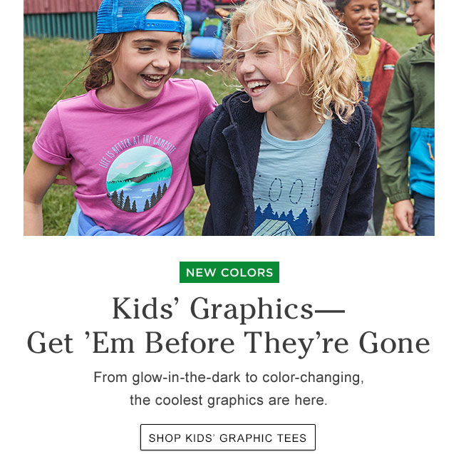 Kids' Graphics?Get 'Em Before They're Gone. From glow-in-the-dark to color-changing, the coolest graphics are here.