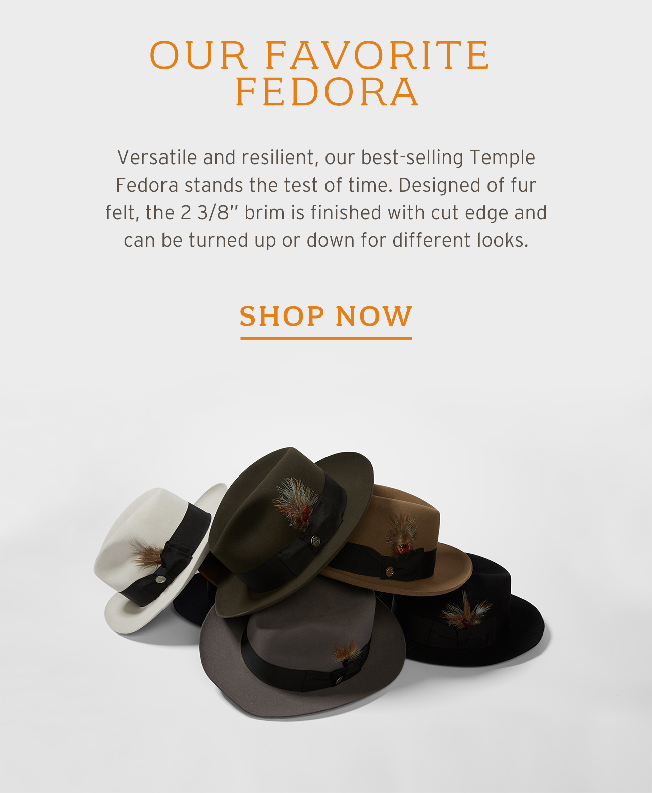 Our Favorite Fedora [SHOP NOW]