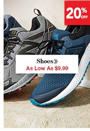 Shop Men's Shoese As Low As $9.99
