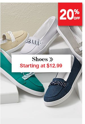 Shop Women's Shoes Starting at $12.99