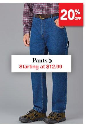 Shop Men's Pants Starting at $12.99