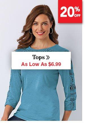 Shop Women's Tops As Low As $6.99