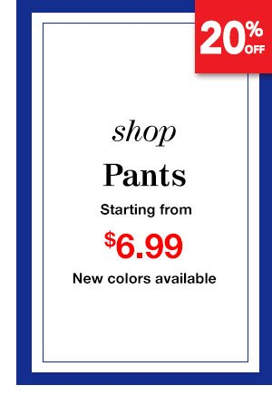 Shop Women's Pants Starting from $6.99 New colors available