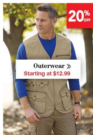 Shop Men's Outerwear Starting at $12.99