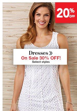 Shop Women's Dresses On Sale 30% OFF!