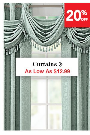 Shop Curtains As Low As $12.99
