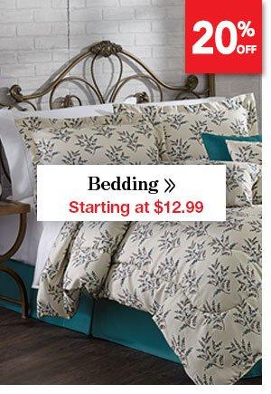 Shop Bedding Starting at $12.99