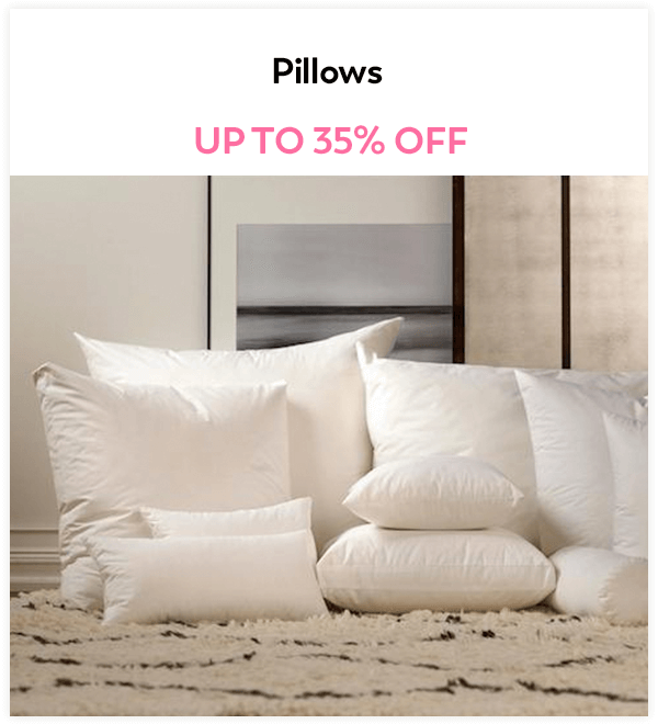 Up to 35% Off Pillows