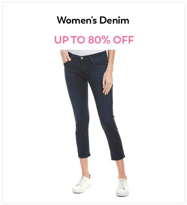 Up to 80% Off Women's Denim