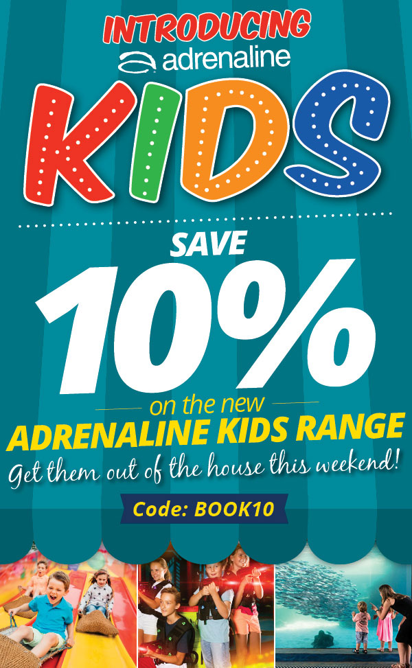 Save 10% on the new Adrenaline Kids range