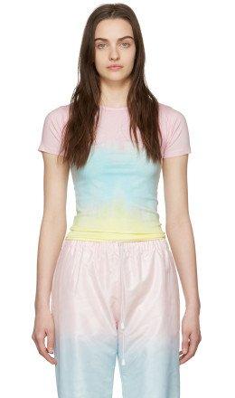 Marine Serre - SSENSE Exclusive Pink Tie-Dye T-Shirt