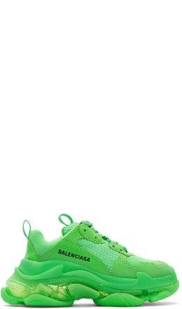 Balenciaga - Green Triple S Sneakers
