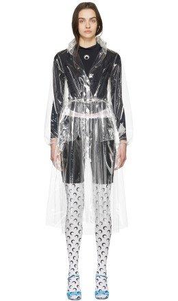 Marine Serre - Transparent 'Hardcore Couture' Raincoat