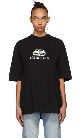 Balenciaga - Black Oversized 'BB Balenciaga' T-Shirt