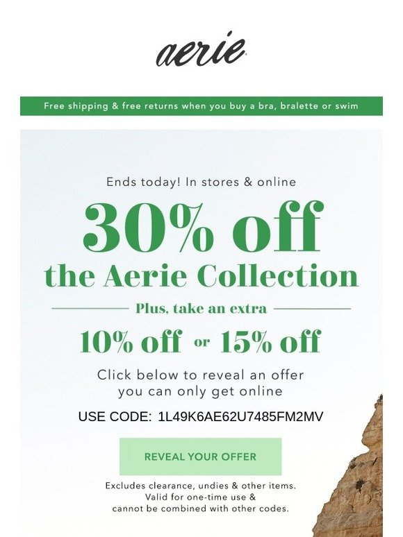 what is a free return label aerie