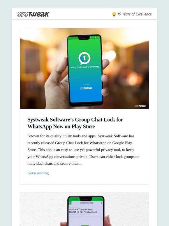 Systweak Inc: Systweak Software's Group Chat Lock for