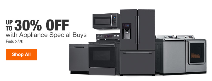 UP TO 30% OFF | with Appliance Special Buys