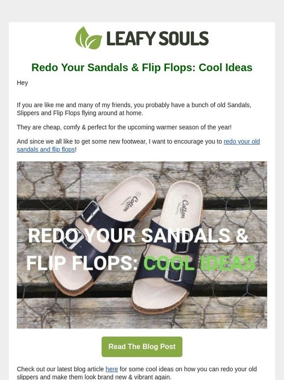 5e1365ec56d00 Leafy Souls: [DIY] Recycle Your Old Sandals And Flip Flops!   Milled