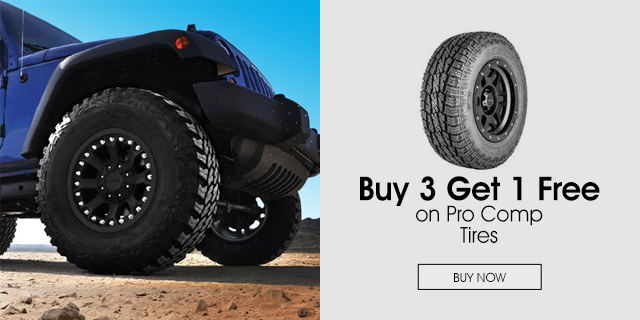 Buy 3 Get 1 Free on Pro Comp Tires