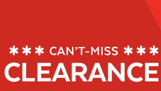 Can't-miss clearance