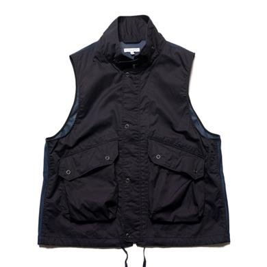 dcccc74e9bdb6 Engineered Garments High Count Twill Field Vest Dk. Navy