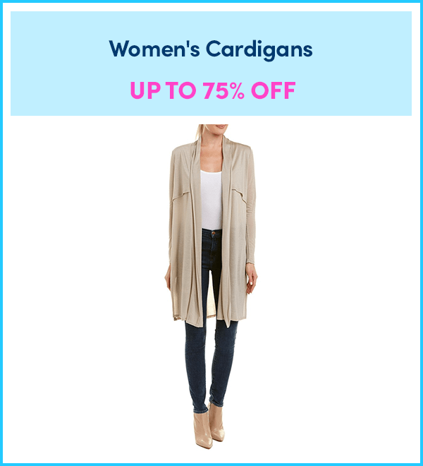 Up to 75% Off Women's Cardigans