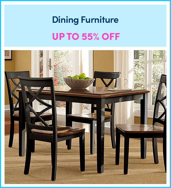 Up to 55% Off Dining Furniture