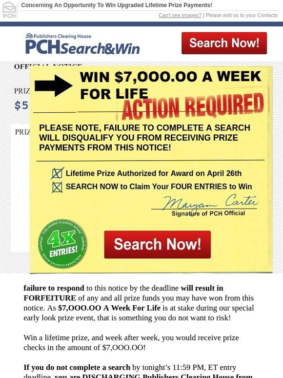 Publishers Clearing House April Special Early Look Event 2019 in