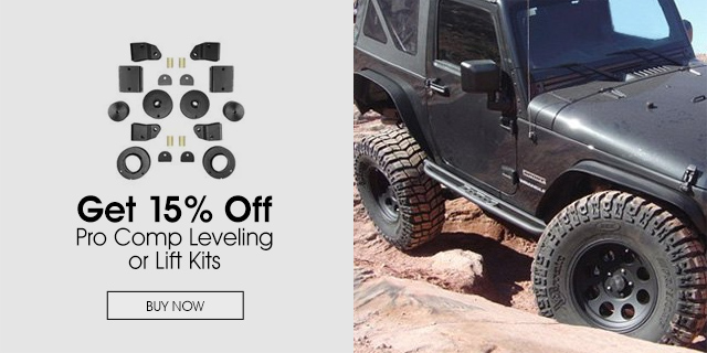 15% Off Pro Comp Leveling or Lift Kits