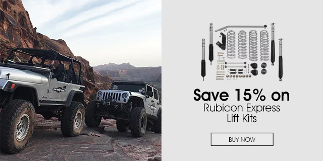 15% Off Rubicon Express Lift Kits
