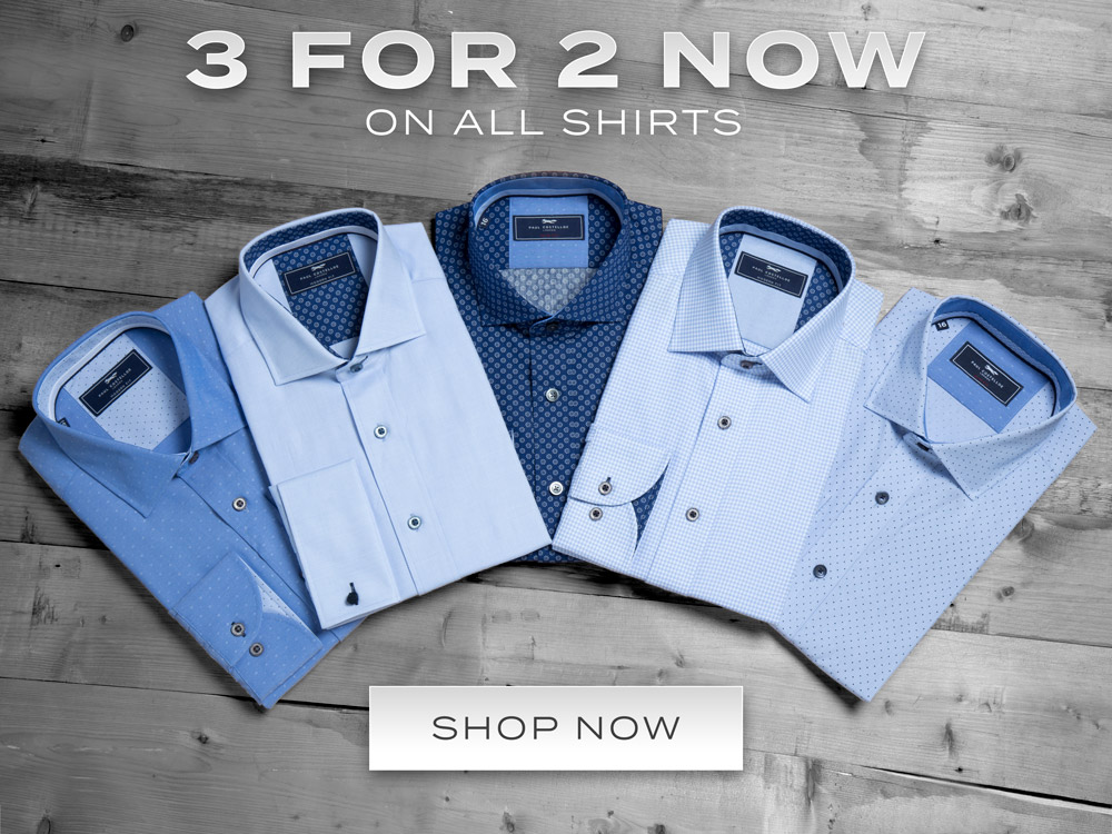 Austin Reed 3 For 2 On All Shirts Plain Patterned Dress Shirts Milled