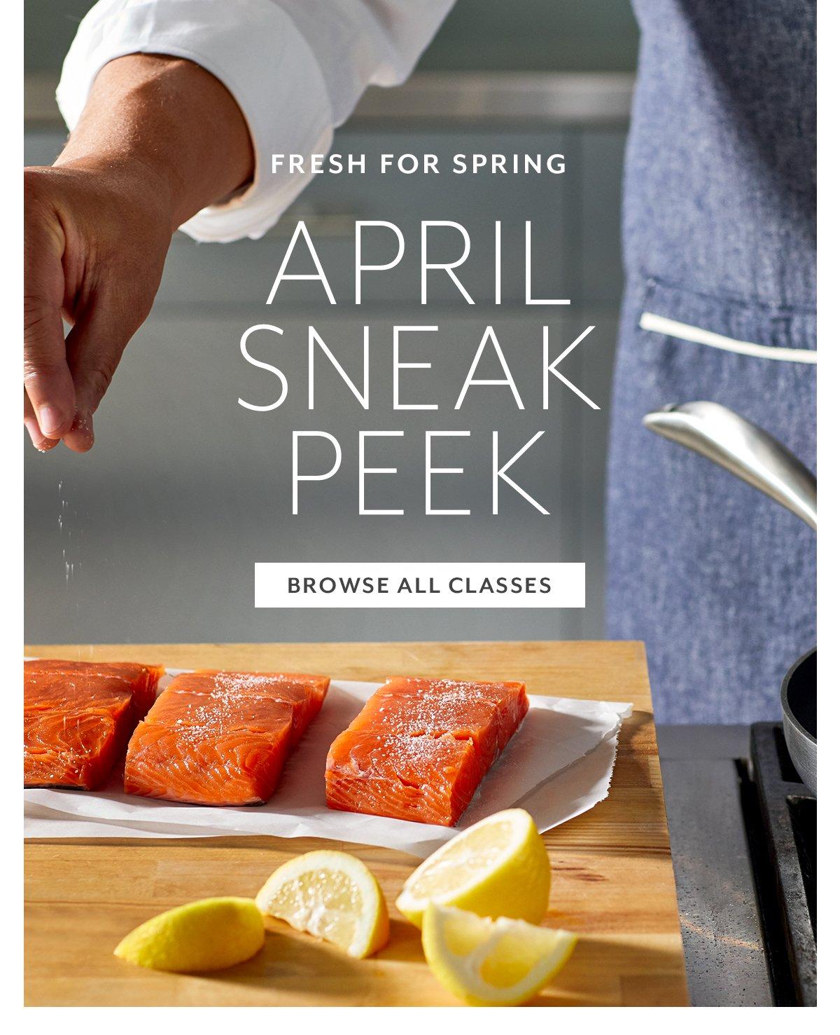 April Sneak Peek