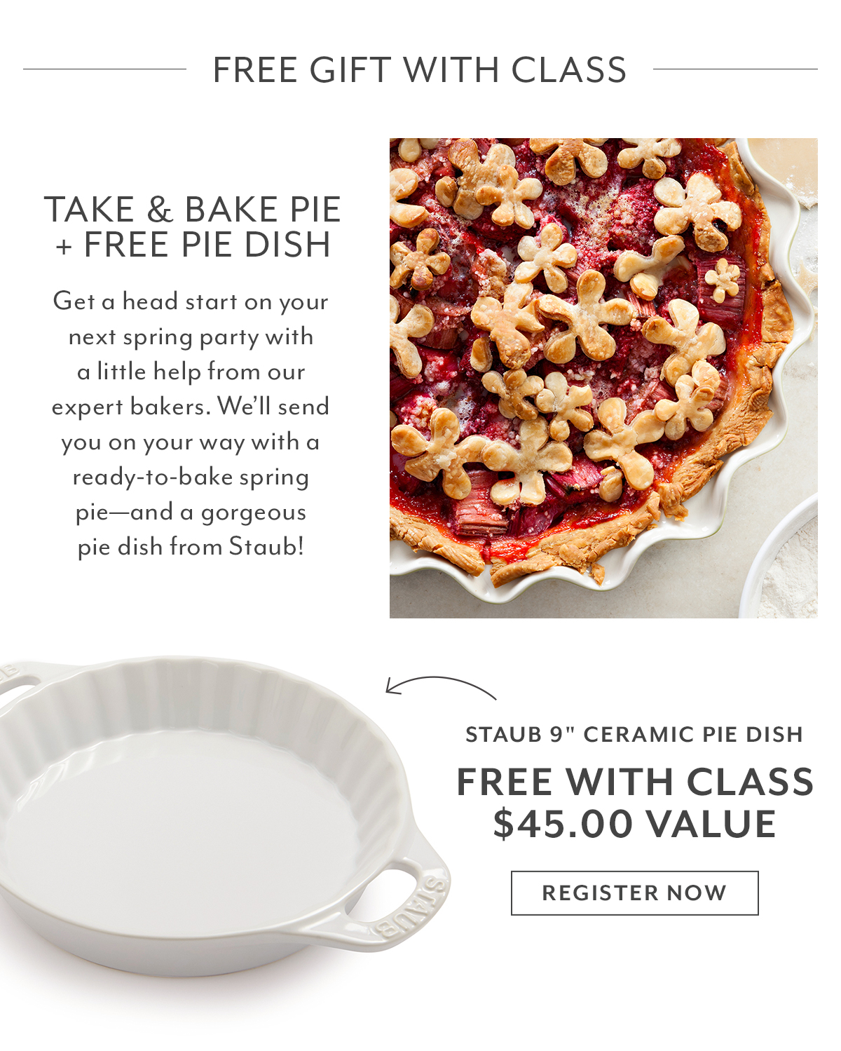 Class - Take & Bake Pie + Free Pie Dish