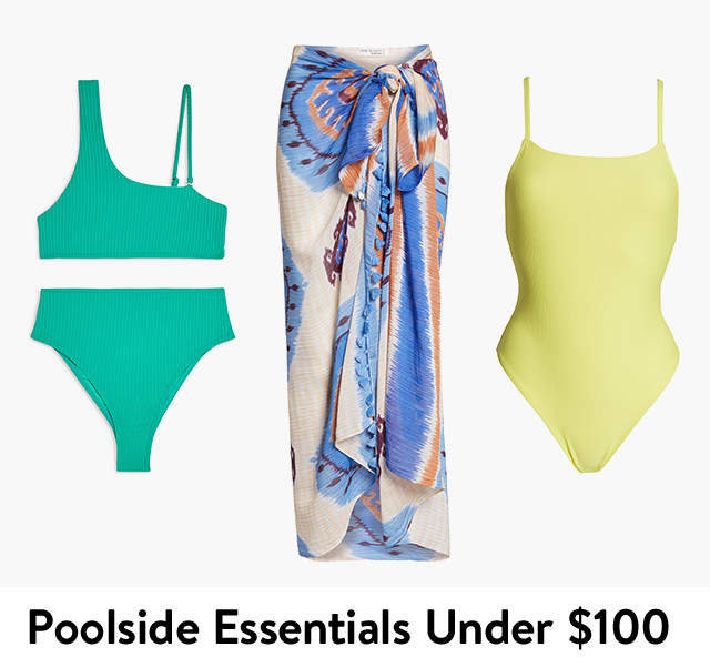 Poolside essentials under $100, swimsuits and more for women.