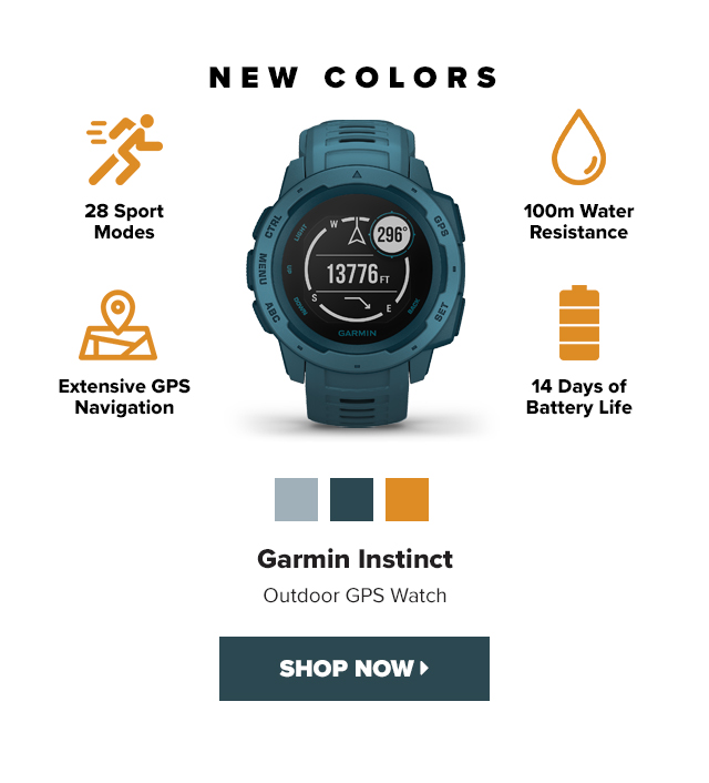 Clever Training: Garmin Instinct now available in new colors