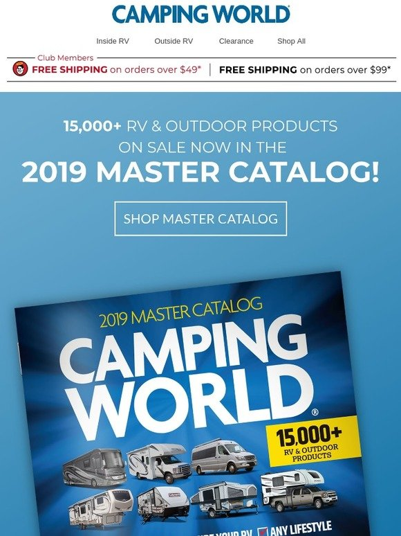 Camping World: Spring is Here & so is our 2019 Master