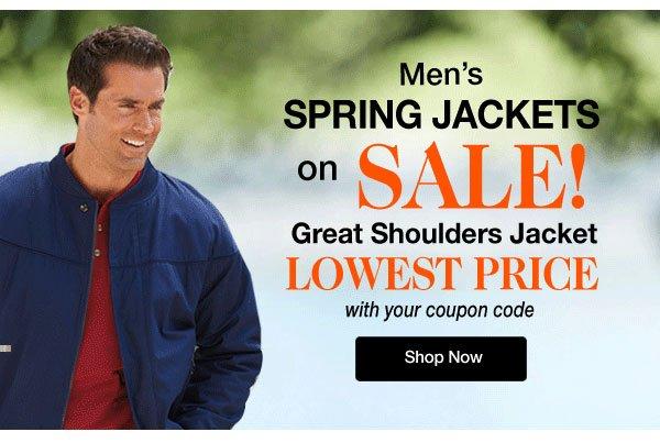 Men's Spring Jackets on SALE! Great Shoulders Jacket Lowest Price!