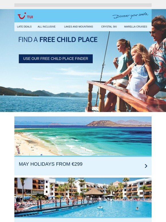 all inclusive holidays with free child places 2019