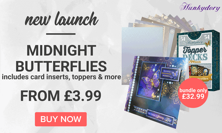 New Hunkydory Midnight Butterflies