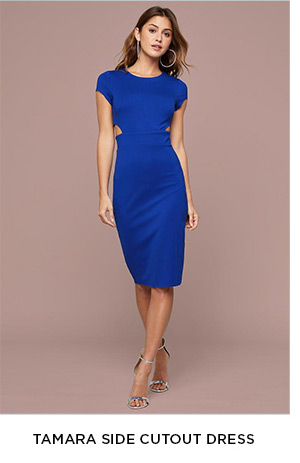 TAMARA SIDE CUTOUT DRESS