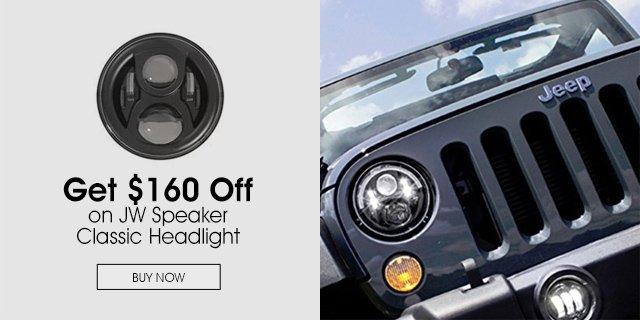 $160 Off on a JW Speaker Classic Headlight
