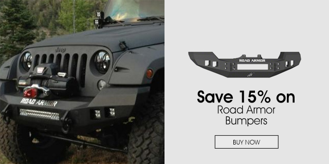 15% Off Road Armor Bumpers