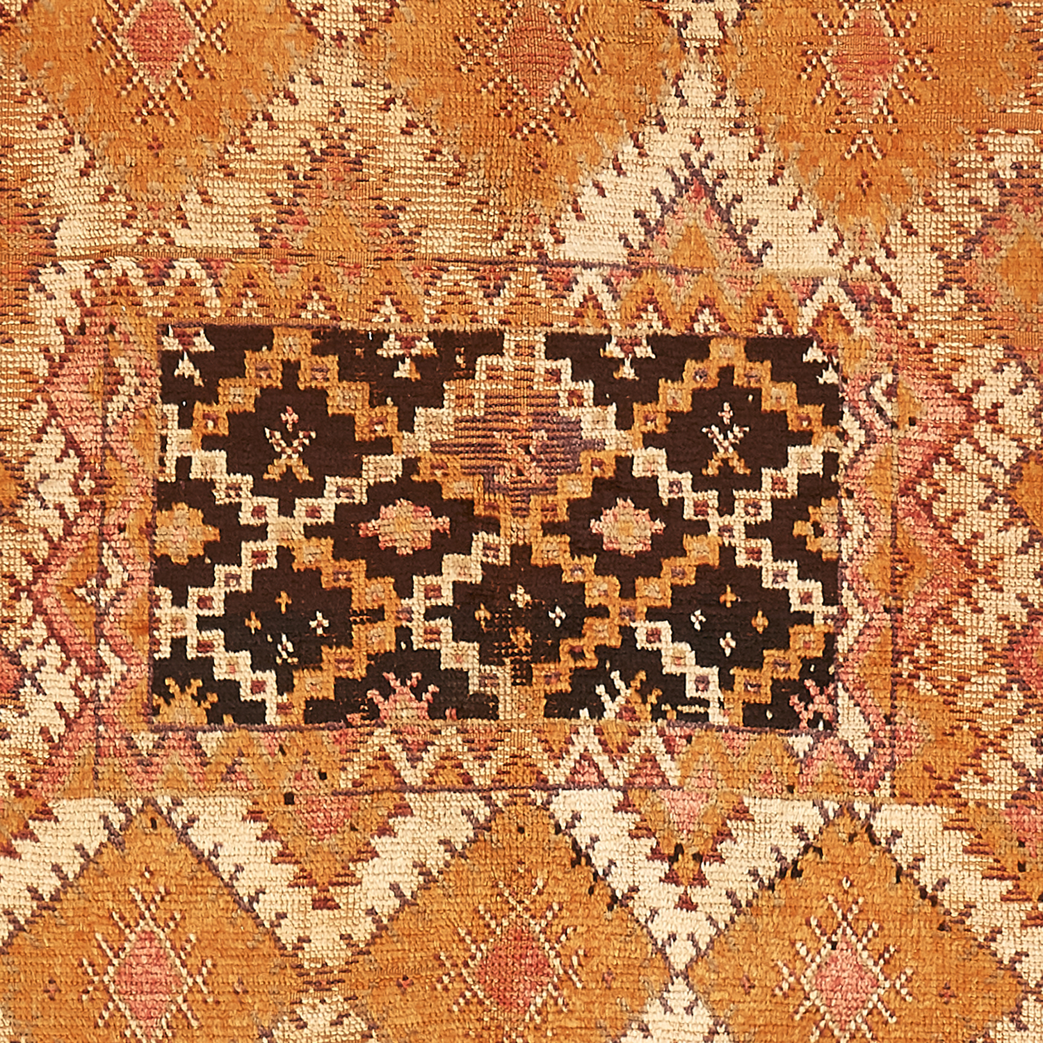 vintage moroccan wool runner - runner, orange