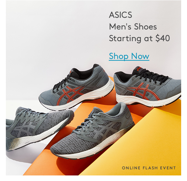 ASICS Men's Shoes Starting at $40 | Shop Now | Online Flash Event