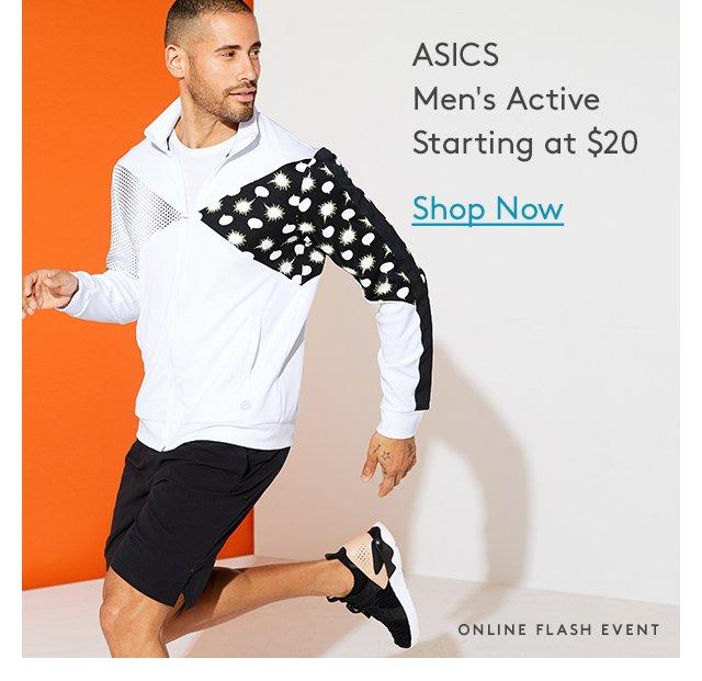 ASICS Men's Active Starting at $20 | Shop Now | Online Flash Event