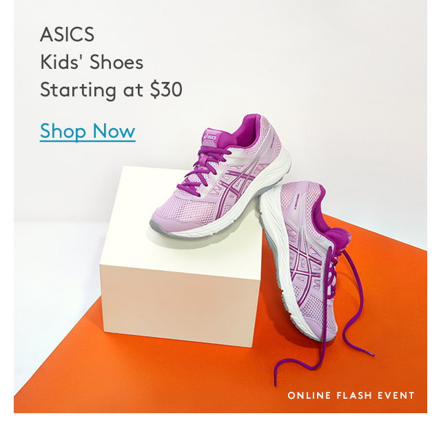 ASICS Kids' Shoes Starting at $30 | Shop Now | Online Flash Event