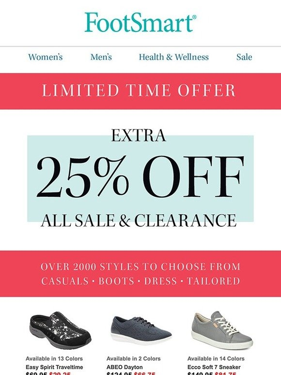 5f1597b5fe48e FootSmart: EXTRA 25% OFF Sale & Clearance – Starting at $39! | Milled